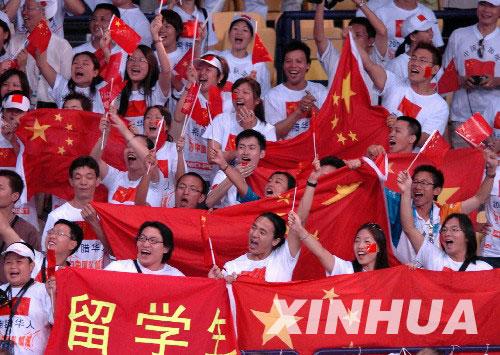 奥运会女子排球预赛中 中国女排3 1战胜美国