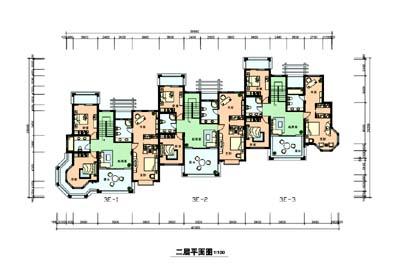 排屋内部结构图