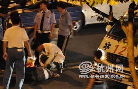 120急救车赶到现场救援。