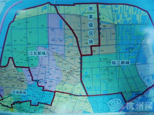 大江东新城发展战略规划图.-杭州将打造大江东新区成 杭州的浦东 图