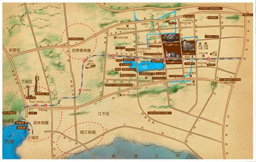 龙湖滟澜山区位图