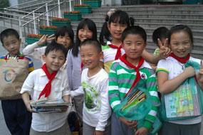 杭师大附小为马金希望小学举行捐赠活动